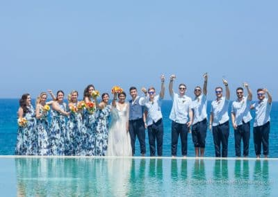 bridal party infinity pool