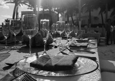 wedding dinner on resort