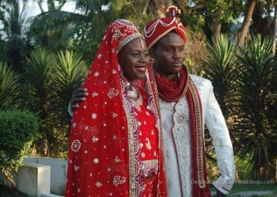 african couple destination dream wedding
